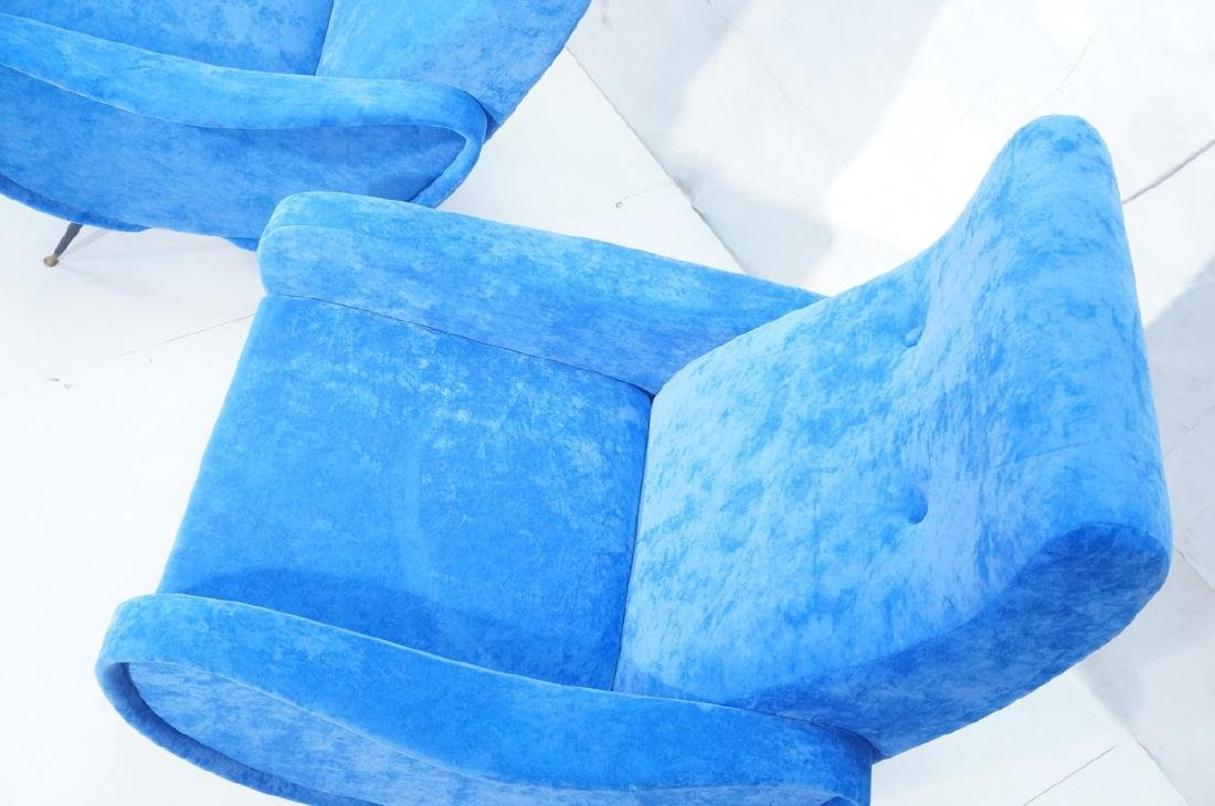 Pr Italian Style Blue Modernist Cloud Chairs. Clo - 2