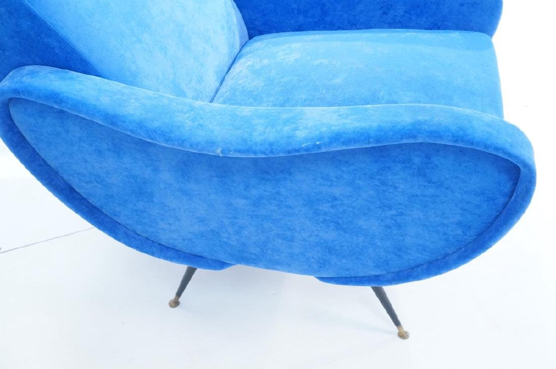 Pr Italian Style Blue Modernist Cloud Chairs. Clo - 4