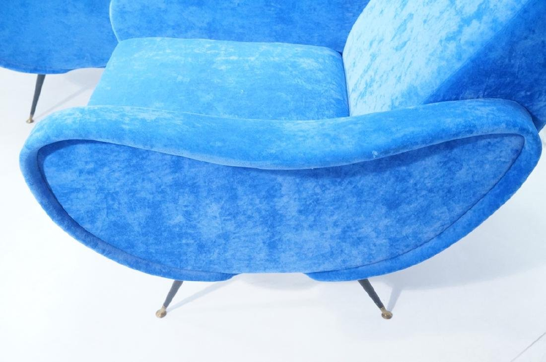 Pr Italian Style Blue Modernist Cloud Chairs. Clo - 5