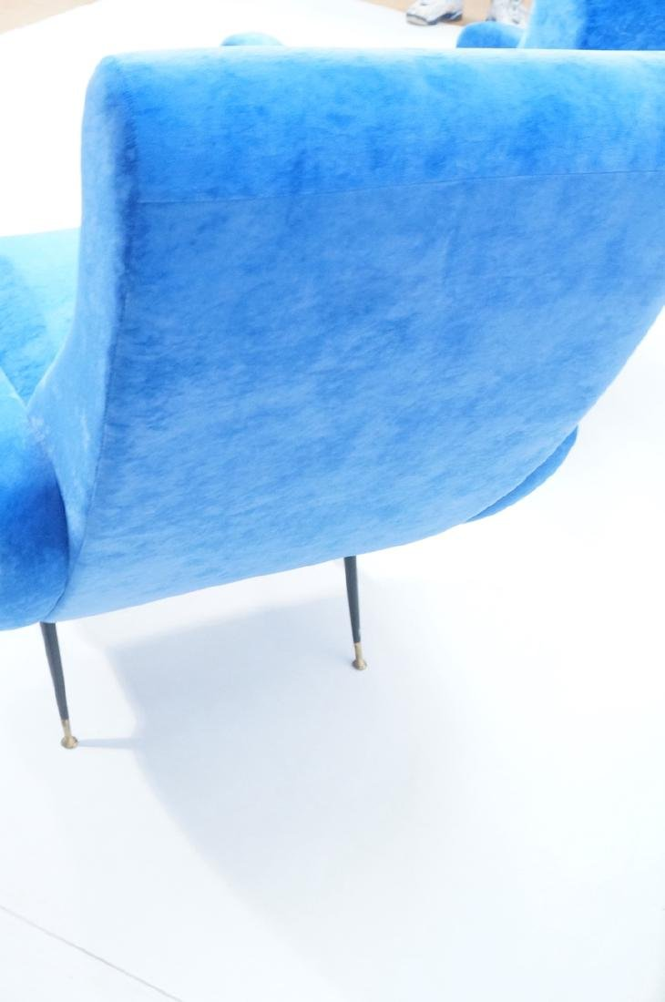 Pr Italian Style Blue Modernist Cloud Chairs. Clo - 7