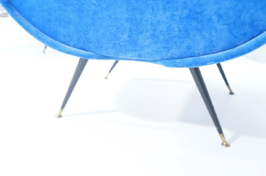 Pr Italian Style Blue Modernist Cloud Chairs. Clo - 8