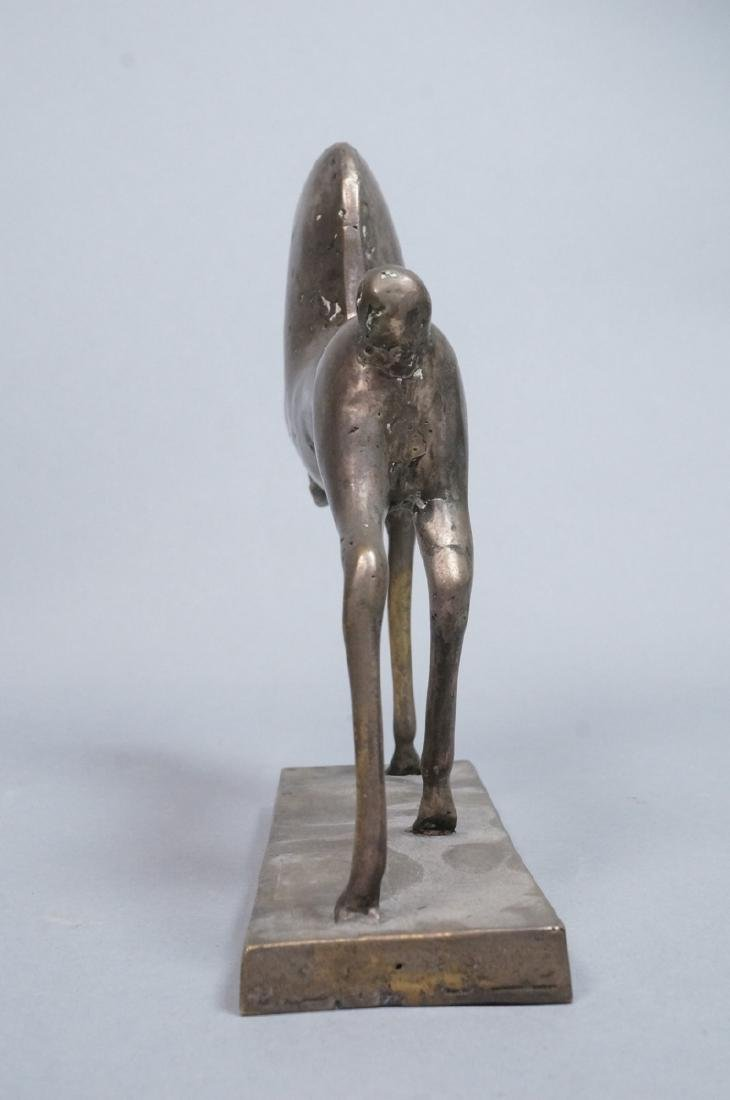 Silver Metal Figural Horse Sculpture. Not marked. - 4