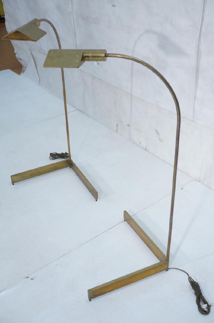Pr CEDRIC HARTMAN Brass Corner Floor Lamps. Moder - 2