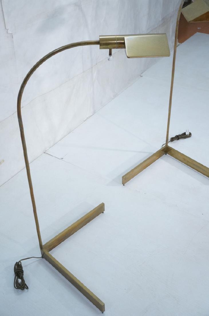 Pr CEDRIC HARTMAN Brass Corner Floor Lamps. Moder - 3