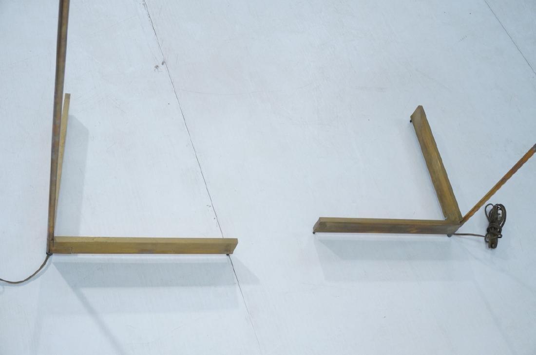 Pr CEDRIC HARTMAN Brass Corner Floor Lamps. Moder - 6
