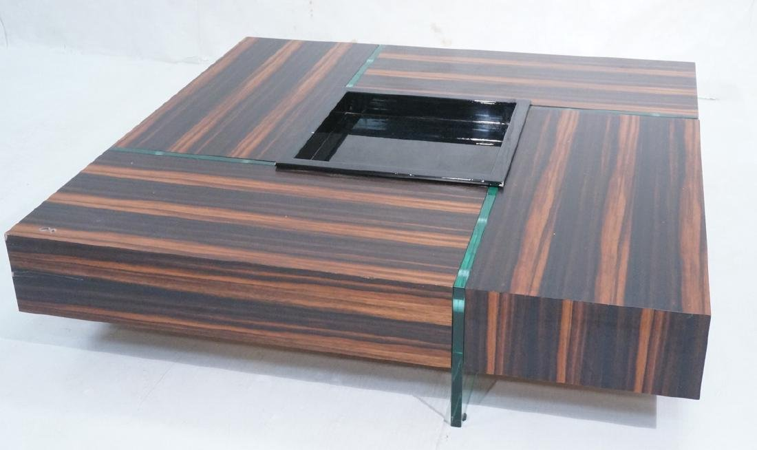 Mid Century Rosewood Square Cocktail Coffee Table
