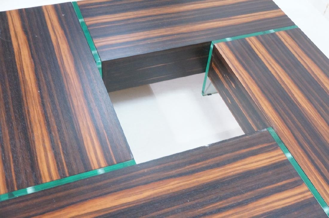 Mid Century Rosewood Square Cocktail Coffee Table - 3