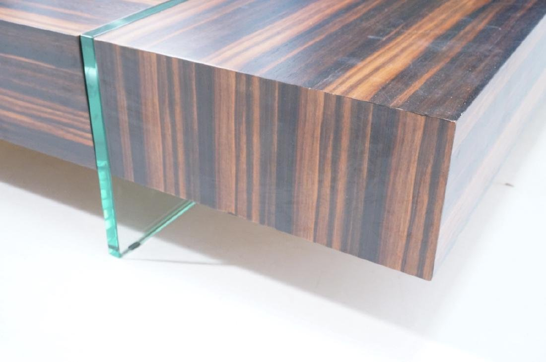 Mid Century Rosewood Square Cocktail Coffee Table - 5