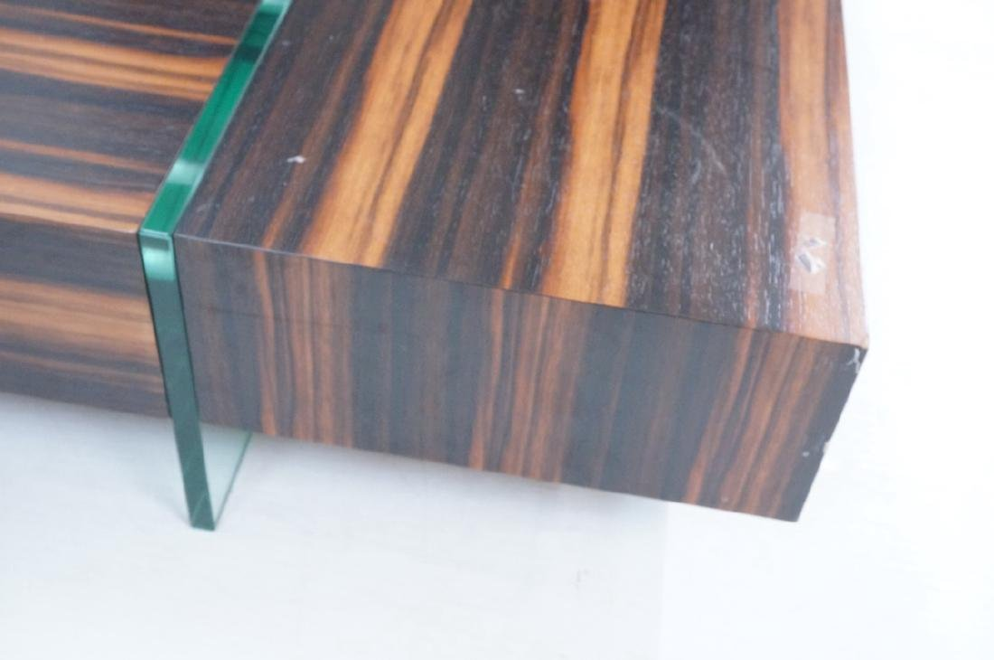 Mid Century Rosewood Square Cocktail Coffee Table - 6
