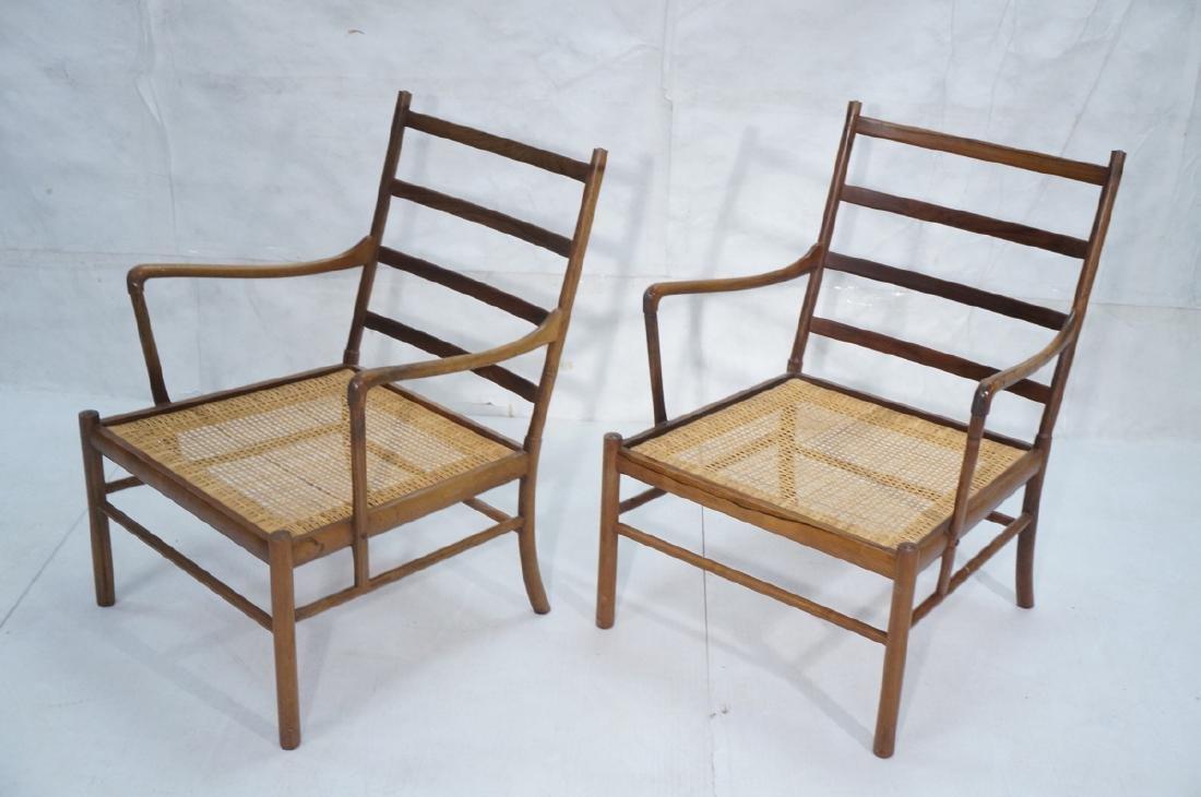 Pr OLE WANSCHER Rosewood Lounge Chairs. Danish Mo