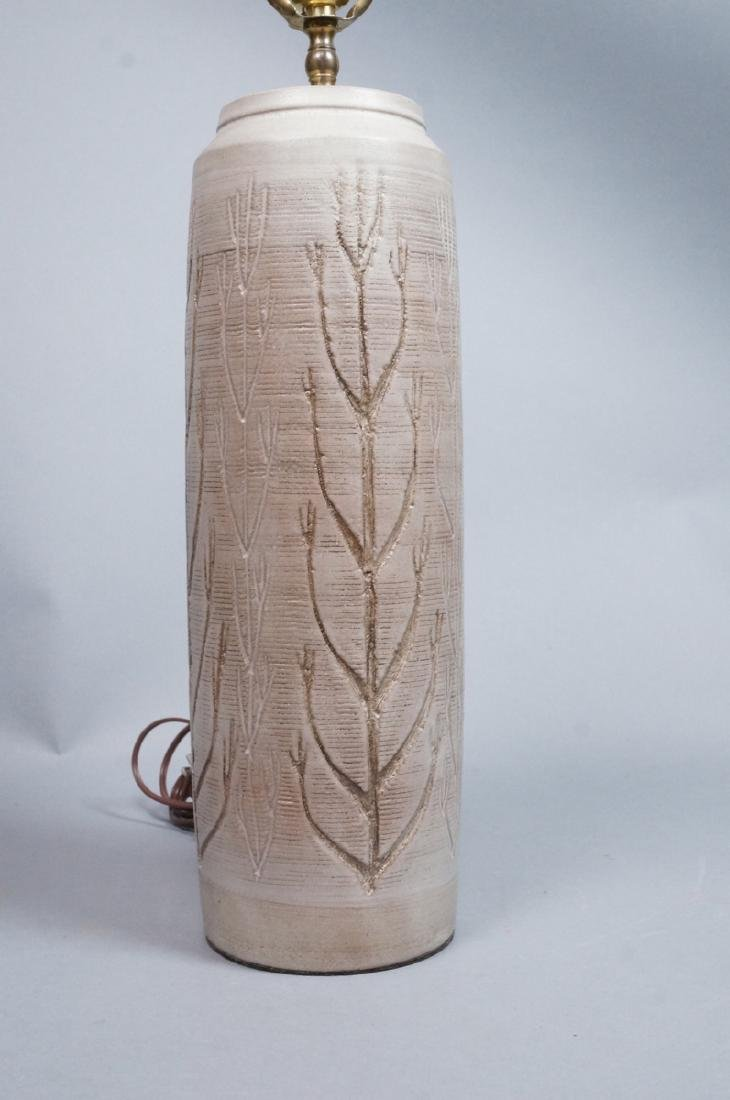WICKHAM Signed Modern Pottery Table Lamp. Tall be - 2