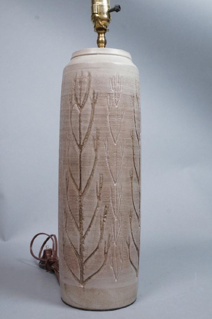 WICKHAM Signed Modern Pottery Table Lamp. Tall be - 3