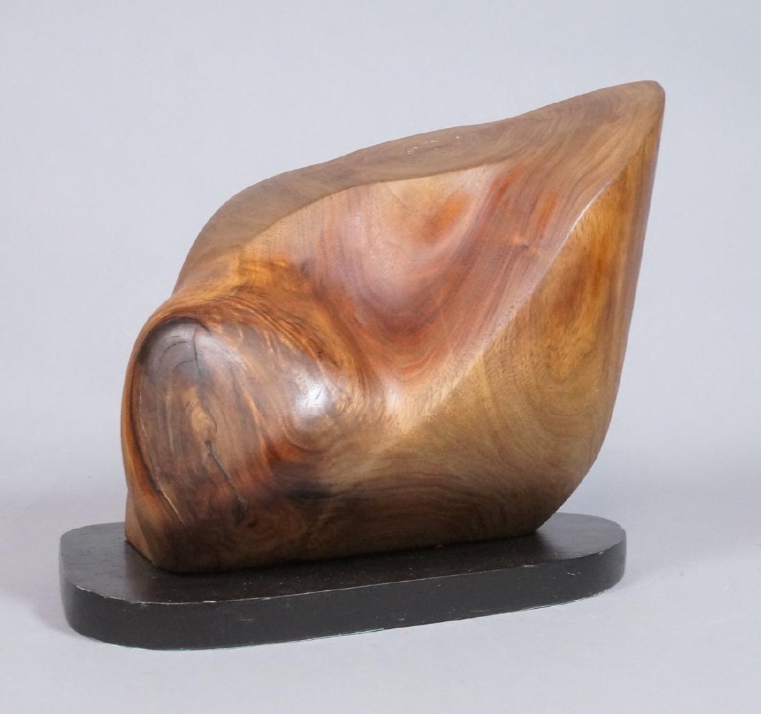 Modern Form Walnut Sculpture signed. T. Weissinge