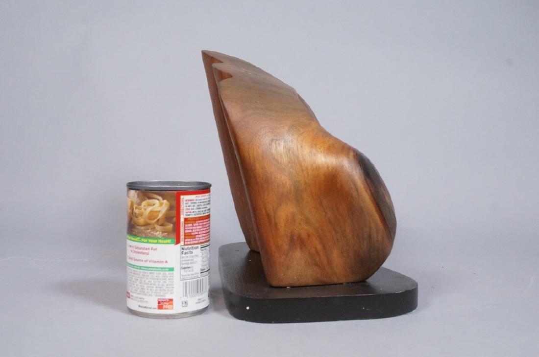 Modern Form Walnut Sculpture signed. T. Weissinge - 4