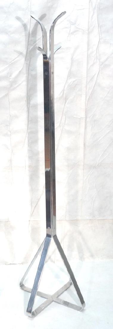 Tall Modern Aluminum Coat Hat Rack. Triangular 4