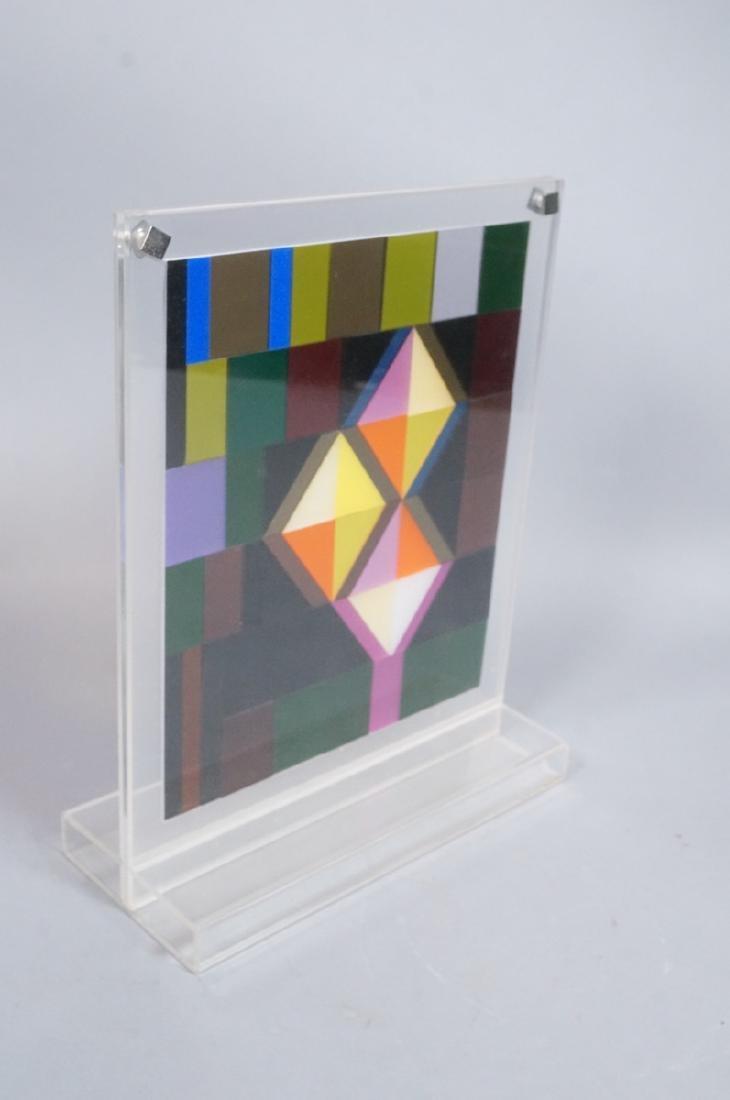 Modern Lucite Tile Art. Flat Colored Lucite Tiles - 2