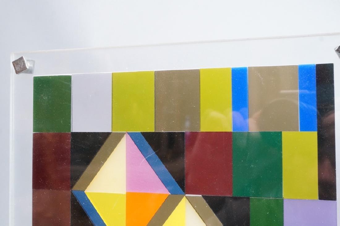 Modern Lucite Tile Art. Flat Colored Lucite Tiles - 4