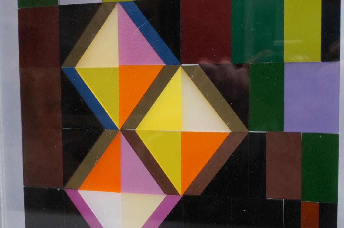 Modern Lucite Tile Art. Flat Colored Lucite Tiles - 5