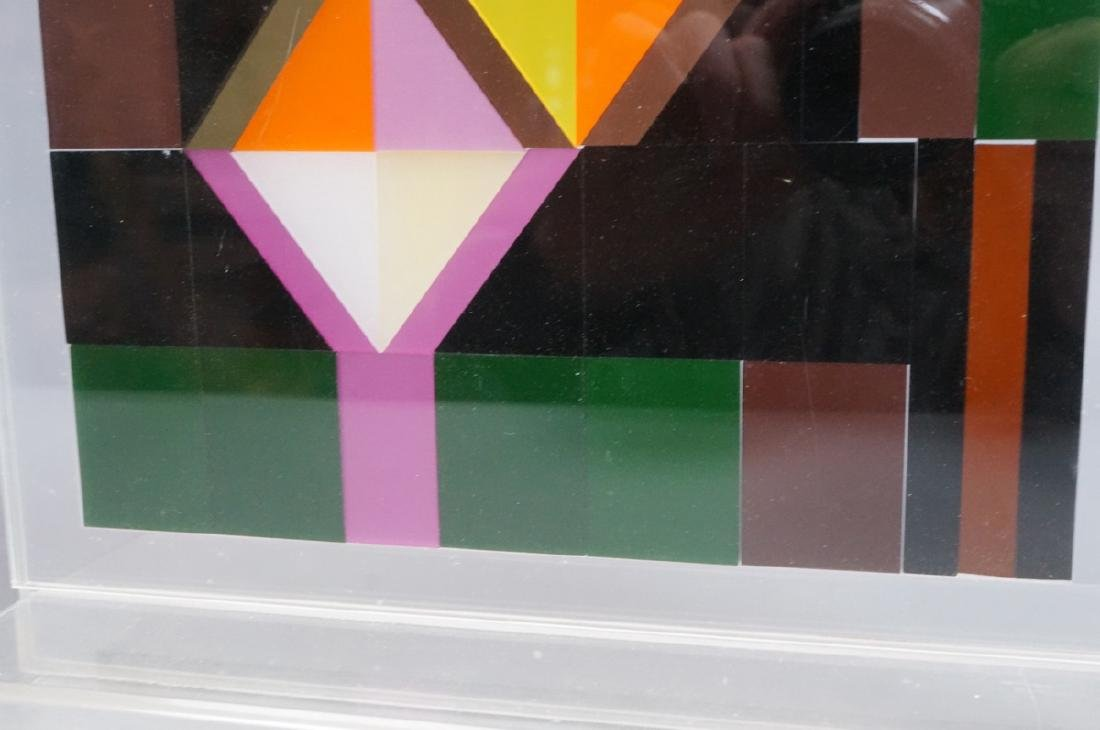 Modern Lucite Tile Art. Flat Colored Lucite Tiles - 6