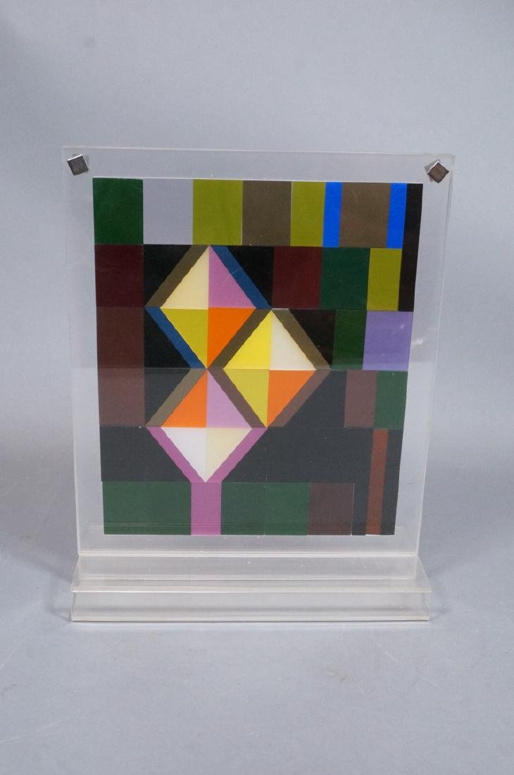 Modern Lucite Tile Art. Flat Colored Lucite Tiles - 7