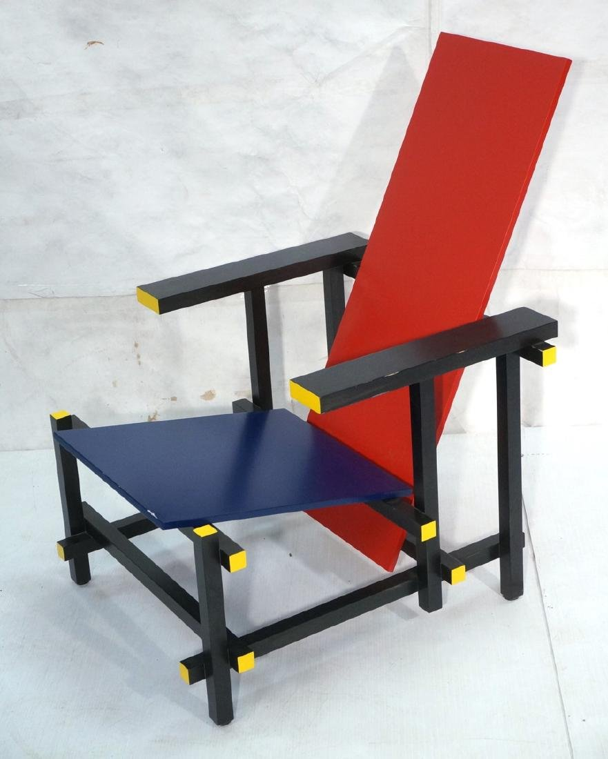 GARRIT RIETVELD for CASSINA Red Blue Chair. Memph