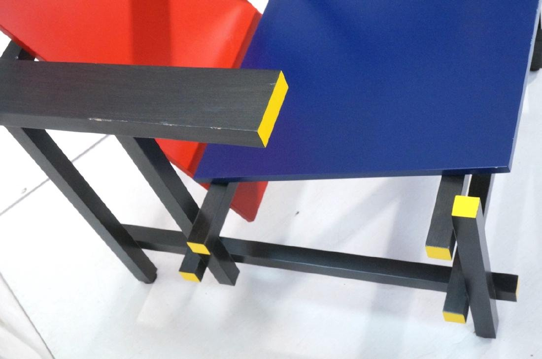 GARRIT RIETVELD for CASSINA Red Blue Chair. Memph - 3