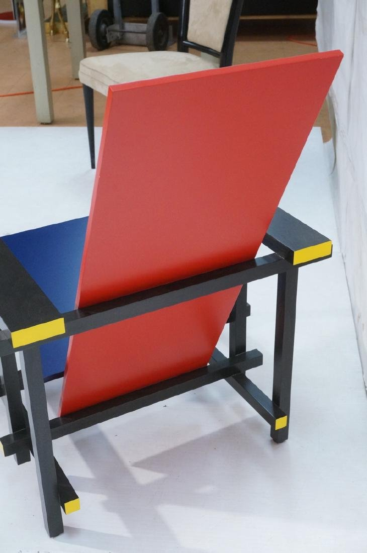 GARRIT RIETVELD for CASSINA Red Blue Chair. Memph - 5