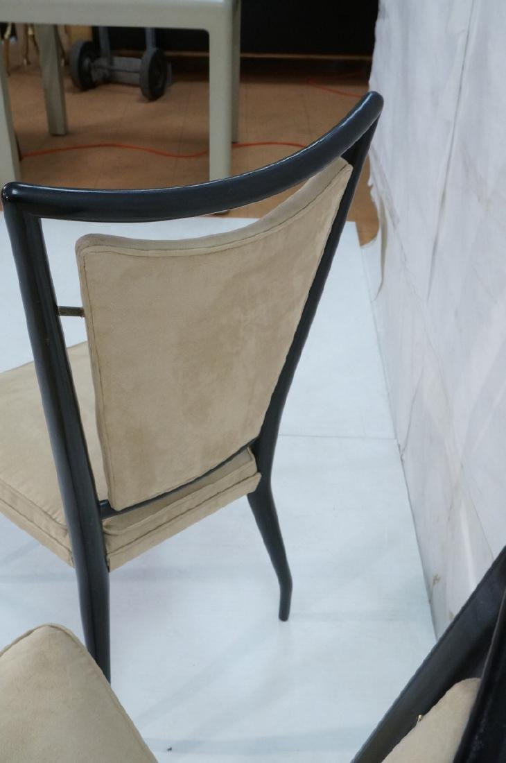 Pr Ebonized Italian Modern Dining Chairs. Tall Ba - 3