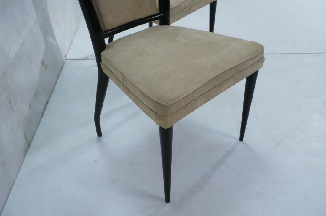 Pr Ebonized Italian Modern Dining Chairs. Tall Ba - 6