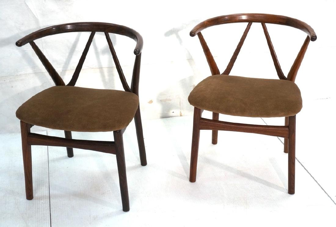 Pr Danish Rosewood HENNING KJAERNULF Chairs. Barr