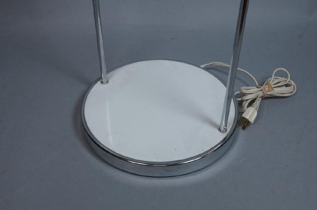 Modern White Enamel Chrome Table Lamp. Round base - 5