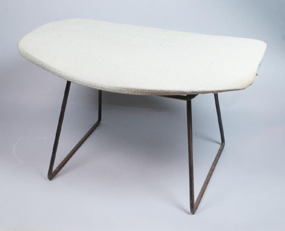 HARRY BERTOIA Modern Ottoman Footstool. Black met