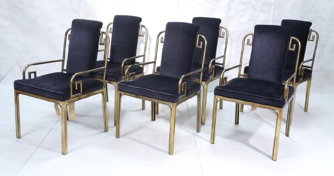 Set 6 Brass MASTERCRAFT Dining Chairs. Asian Styl