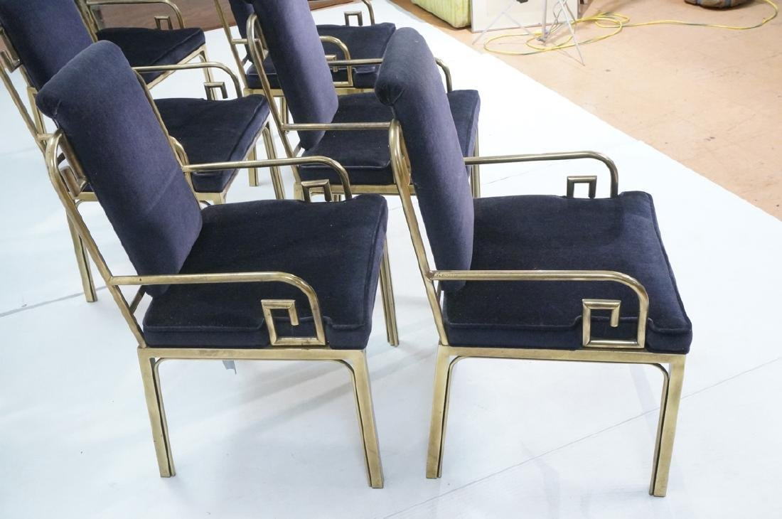 Set 6 Brass MASTERCRAFT Dining Chairs. Asian Styl - 2