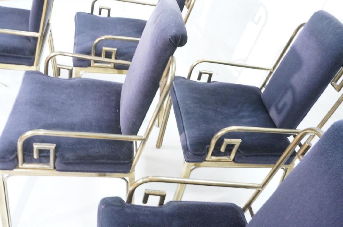 Set 6 Brass MASTERCRAFT Dining Chairs. Asian Styl - 4