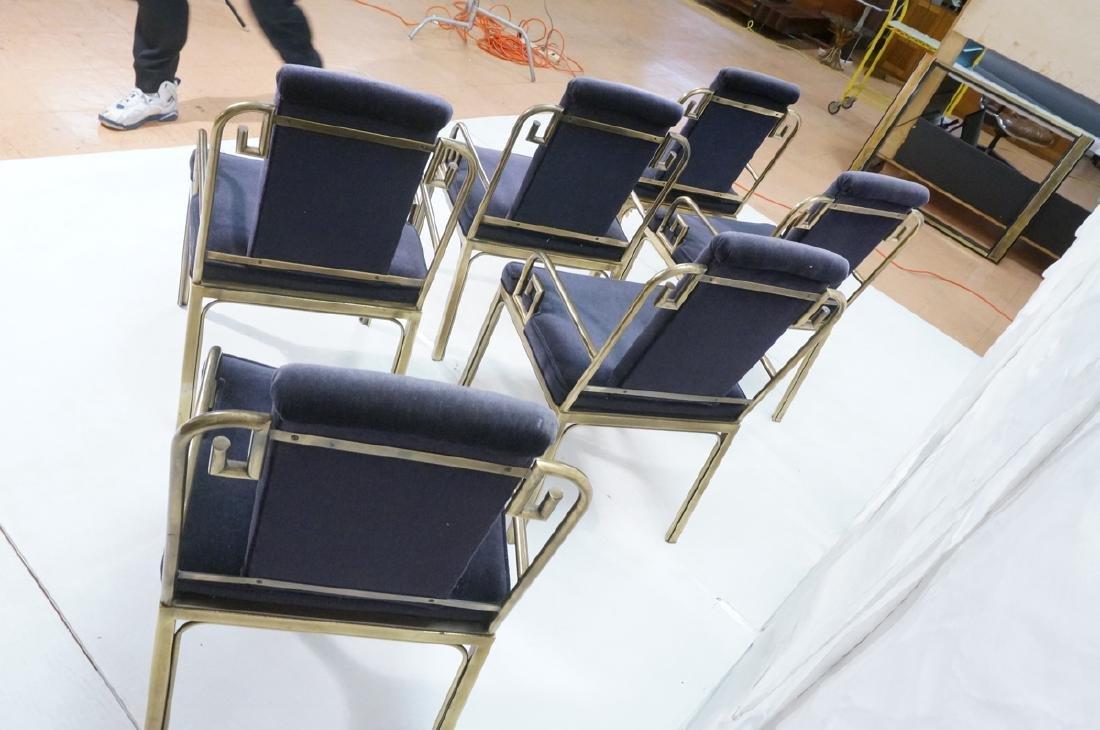 Set 6 Brass MASTERCRAFT Dining Chairs. Asian Styl - 6