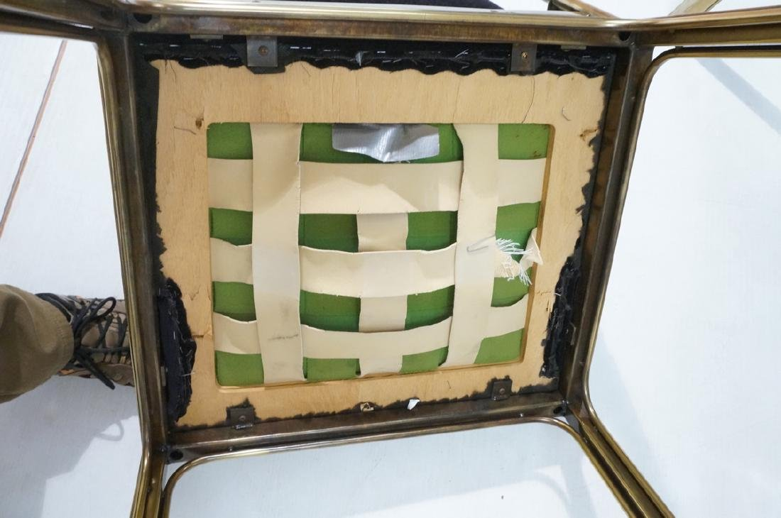 Set 6 Brass MASTERCRAFT Dining Chairs. Asian Styl - 8