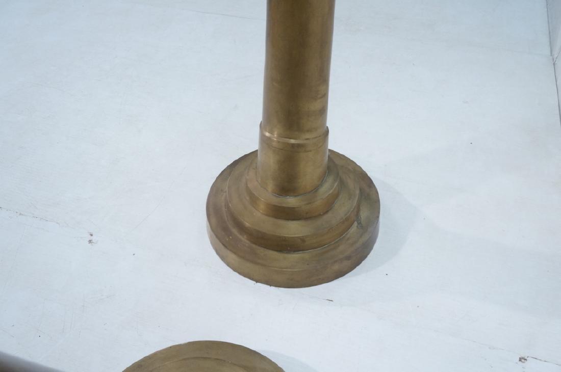 Pr Tall Dramatic Decorator Brass Tusk Sculptures. - 10