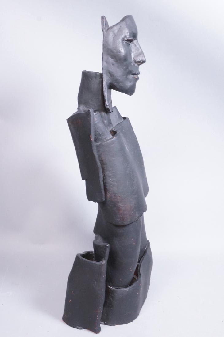 Brutalist Black Figural Ceramic Sculpture. Portra - 2