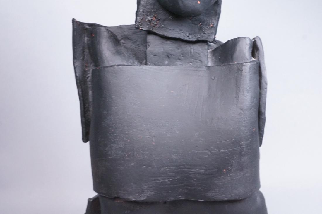 Brutalist Black Figural Ceramic Sculpture. Portra - 6