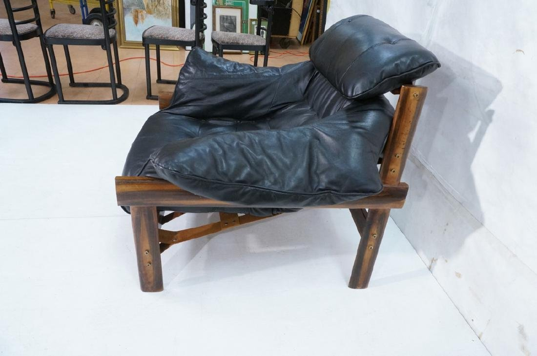 Pr LAFER Style Modern Wood Frame Lounge Chairs. B - 4