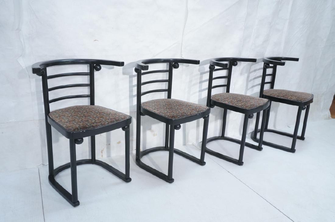 4 Ebonized JOSEF HOFFMANN Style Dining Chairs. Mod