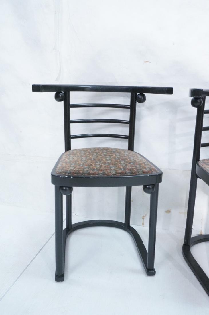 4 Ebonized JOSEF HOFFMANN Style Dining Chairs. Mod - 2