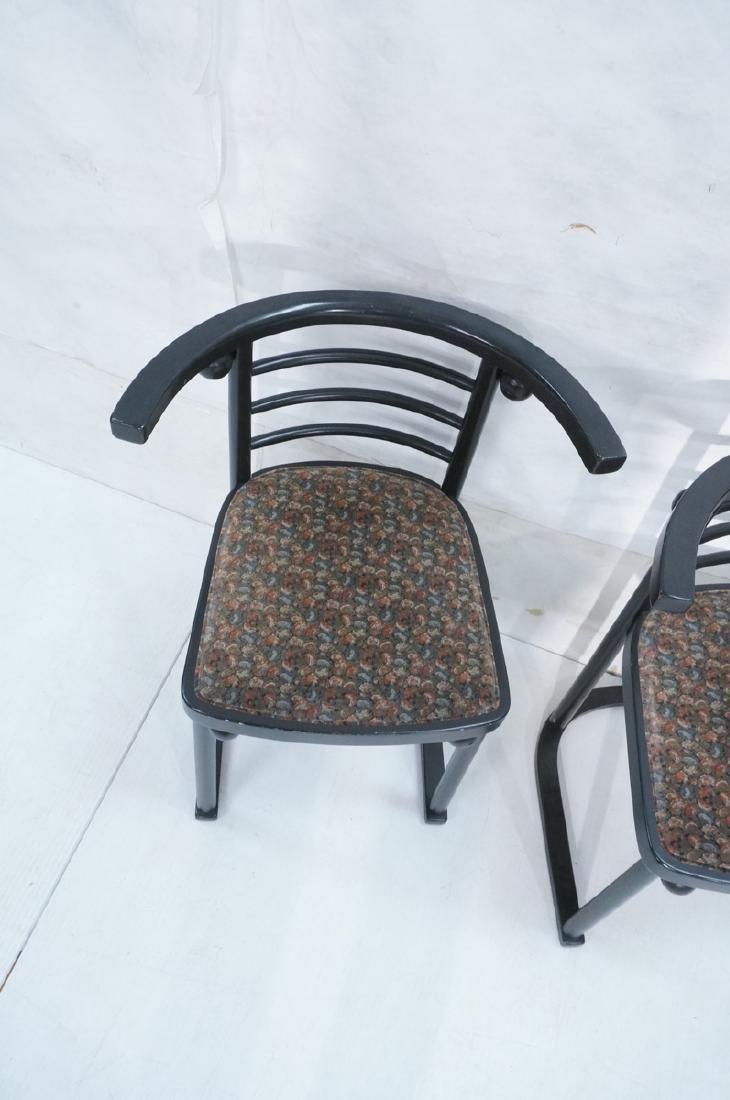 4 Ebonized JOSEF HOFFMANN Style Dining Chairs. Mod - 3
