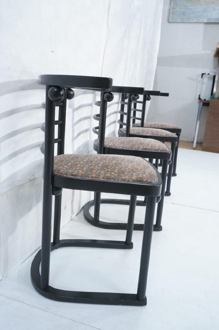 4 Ebonized JOSEF HOFFMANN Style Dining Chairs. Mod - 4