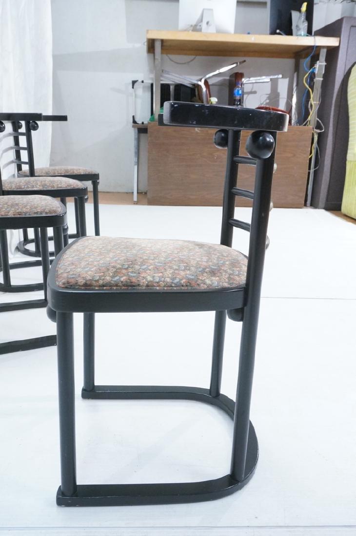 4 Ebonized JOSEF HOFFMANN Style Dining Chairs. Mod - 5