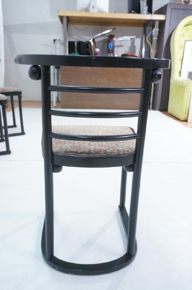 4 Ebonized JOSEF HOFFMANN Style Dining Chairs. Mod - 6