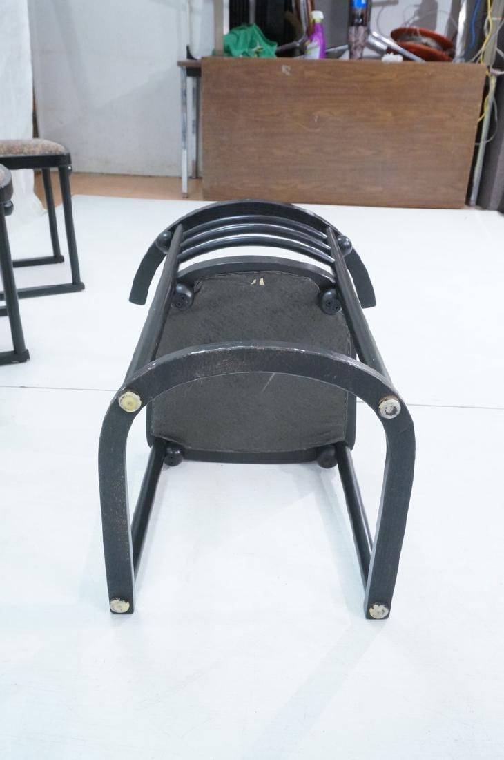 4 Ebonized JOSEF HOFFMANN Style Dining Chairs. Mod - 7