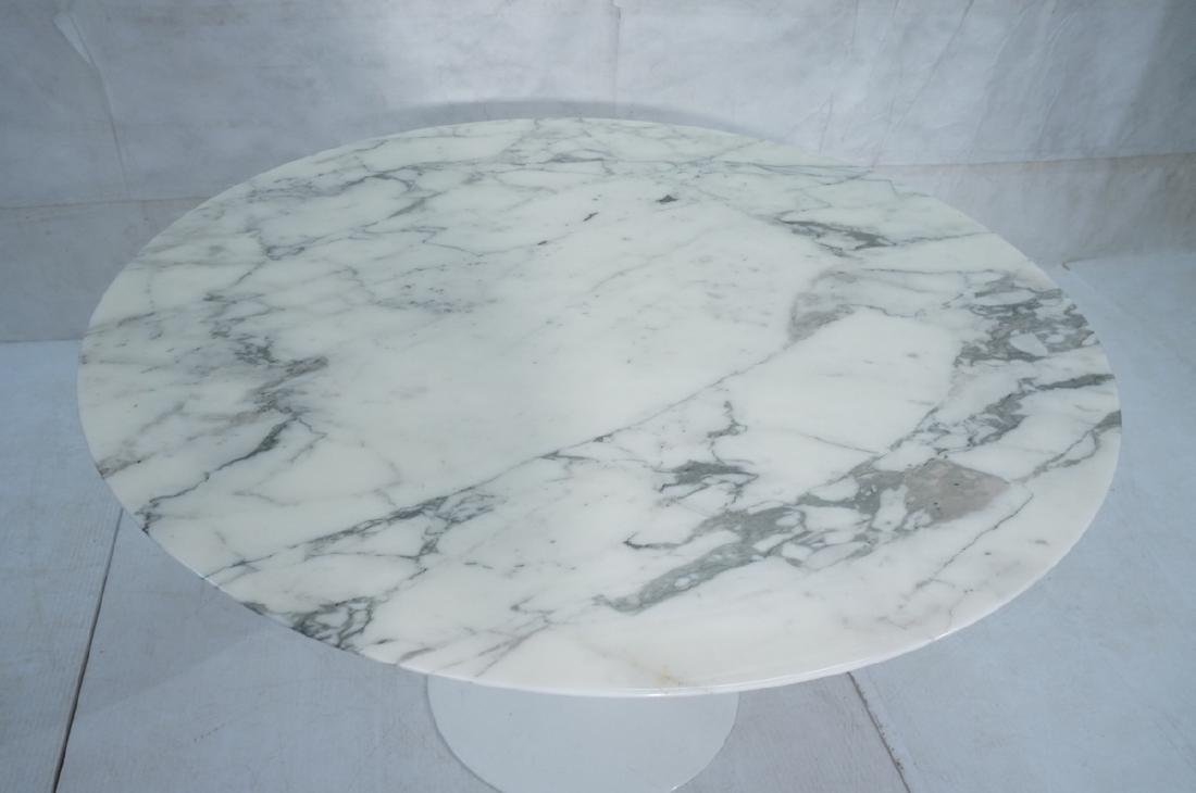 EERO SAARINEN Marble Top KNOLL Tulip Dining Table - 2