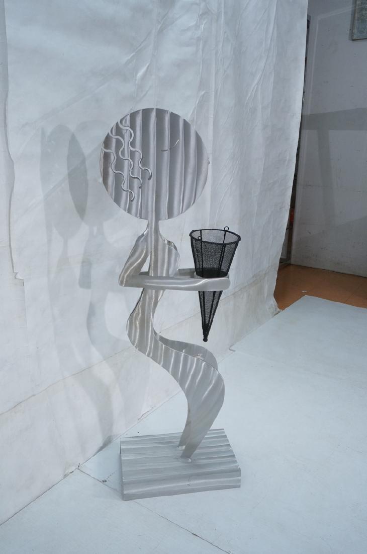 Signed FRED GARBOTZ Aluminum Figural Floor Sculpt - 2